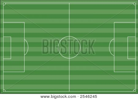 Soccer Field With Stripes