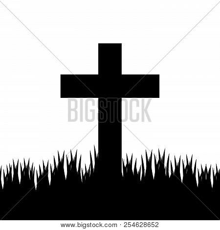 Christian Cross. Faith And Religion. Vector Illustration