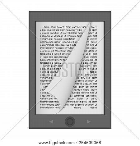 Ereader Mockup. Realistic Illustration Of Ereader Mockup For Web Design Isolated On White Background