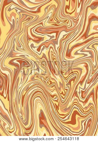 Marble Texture. Divorces Of Colored Paints. Abstract Background Of Mixed Liquid Oils. Vector Illustr