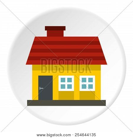 One Storey House Icon. Flat Illustration Of One Storey House Icon For Web