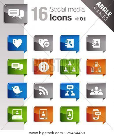 Angle Stickers - Social Media Icons