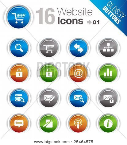 Glossy buttons - Web site and Internet Icons