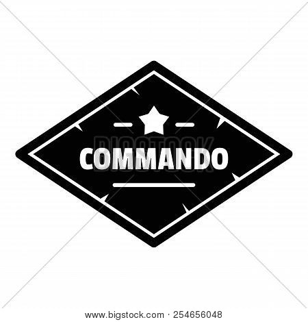 Commando troop logo. Simple illustration of commando troop logo for web design isolated on white background poster