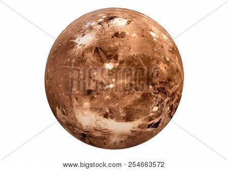3d Rendering  Of Pluto On White Background. Pluto Is A Dwarf Planet In The Kuiper Belt And Is The Ni