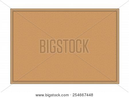 Vector Wooden Cork Board Isolated On White Background