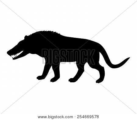 Andrewsarchus Mongoliensis Silhouette Extinct Prehistoric Wolf M