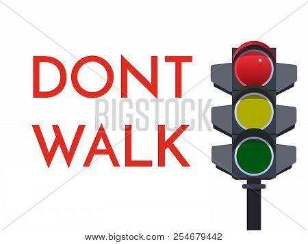 traffic light red vector & photo (free trial) | bigstock  bigstock