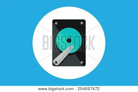 Hard Drive Icon. Element Of Computer Parts With Name Icon For Mobile Concept And Web Apps. Filled Ou