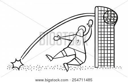Vector Illustration Cartoon Of Soccer Player Man