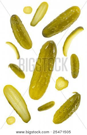 Pickled dill cucumbers background