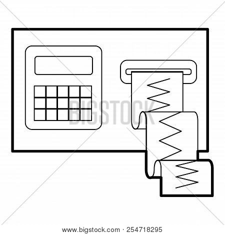 Cardiograph Icon. Outline Illustration Of Cardiograph Icon For Web