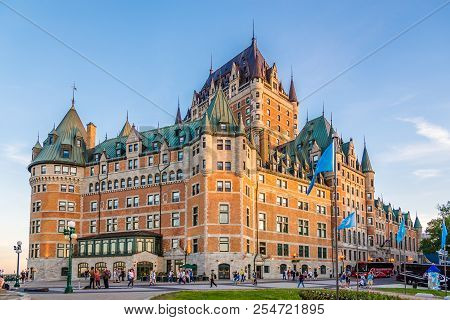 Quebec,canada - June 16,2018 - View At The Chateau Of Frontenac In Quebec. Quebec Is The Capital Cit