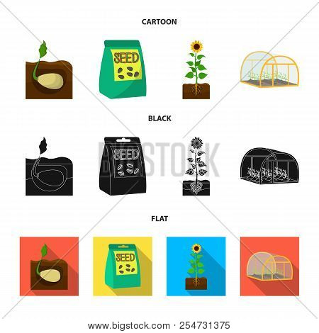 Company, Ecology, And Other Web Icon In Cartoon, Black, Flat Style. Husks, Fines, Garden Icons In Se
