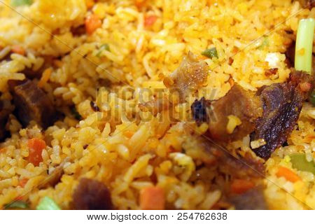 Asian Vegetable And Beef Fried Rice Meal
