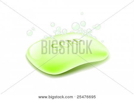 Soap on white (vector)