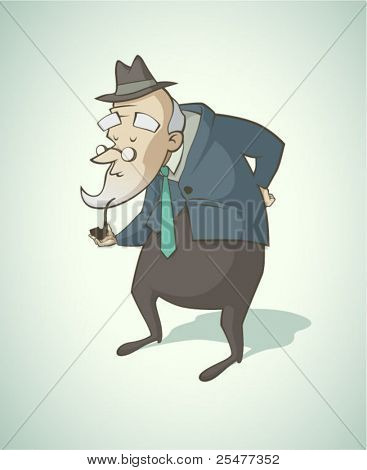 Old vintage man