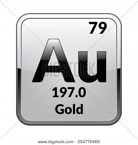 Gold symbolemical vector photo free trial bigstock gold symbolemical element of the periodic table on a glossy white background in a urtaz Gallery