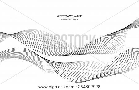 Line The Art Element : Abstract wave element vector & photo free trial bigstock