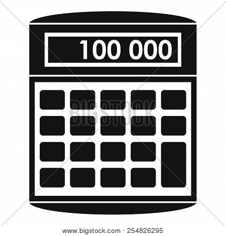 An Electronic Calculator Icon. Simple Illustration Of Calculator Icon For Web