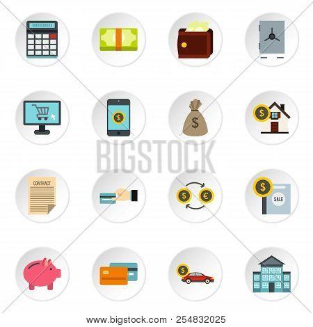 Banking Icons Set. Flat Illustration Of 16 Banking Icons For Web