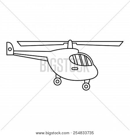 Helicopter icon. Outline illustration of helicopter icon for web poster