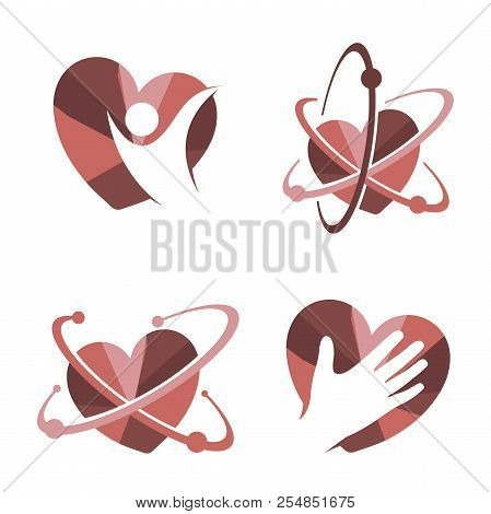Collection Of  Heart Icon Vector Logo. Heart Logo, Heart Shape. Love Logo Concept,heart Logo, Heart