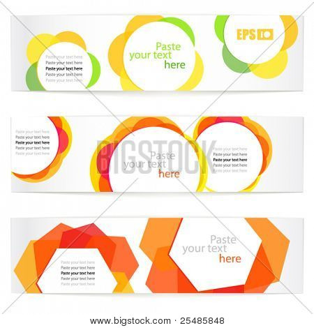 Set of floral vector information banners. Ready for a text