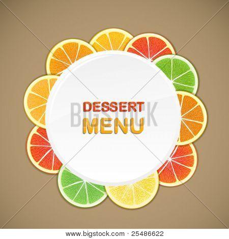 Dessert menu vector template. Ready for a text