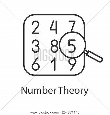 Number Theory Linear Icon. Arithmetic. Thin Line Illustration. Learning Number And Counting. Contour