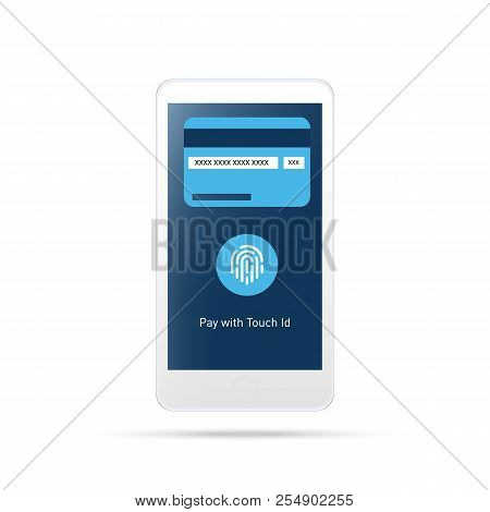 Mobile Payment , Payment Touch Id.payment Mobile Icon.isolated On White