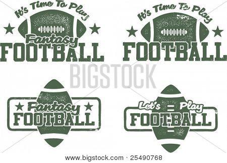 US-amerikanischer Fußball und Fantasy Fußball-Briefmarken