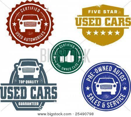Vintage Used Car Stamp Designs