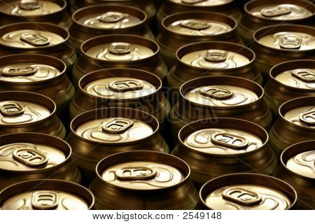 Lots of beer cans close-up may be used as background poster