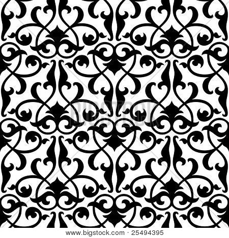 Seamless arabesque background:raster version