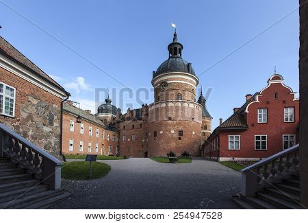Gripsholm Castle, Sweden On May 11. View Of The Courtyard Beyond The Entry On May 11, 2018 In Marief