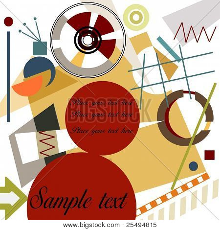 Abstract geometrical background with space for text; Master Kandinsky style