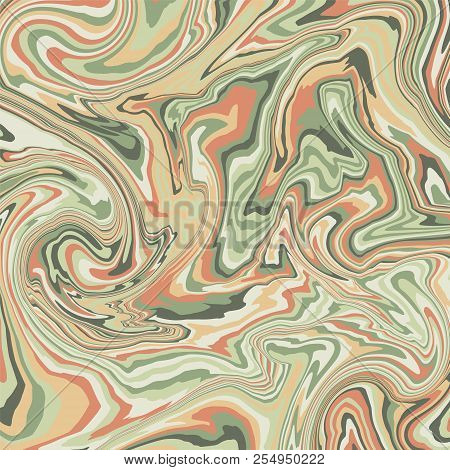 Marble Background In Pastel Colors. Fluid Painting. Vector Illustration