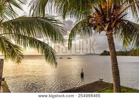 Lake Nicaragua, Ometepe, Nicaragua. February 2018. A typical view on of Lake Nicaragua on Ometepe in Nicaragua poster