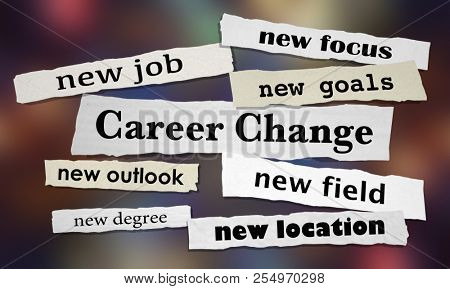 Career Change New Job Advancement Headlines 3d Illustration