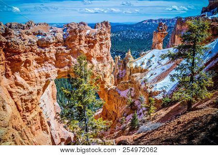 The Natural Bridge In Bryce Canyon National Park, Utah
