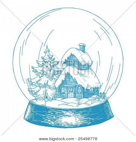 Cartoon snowglobe