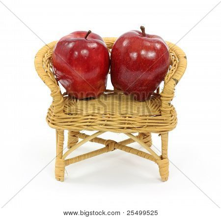 Apples In Toy Loveseat