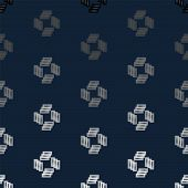 Colorful abstract random texture, background pattern from repetitive shapes poster