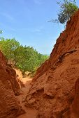 The Bong Lai or Suoi Tre Red Canyons near Mui Ne in south central Bình Thuan Province, Vietnam poster