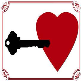 Key To Heart On White