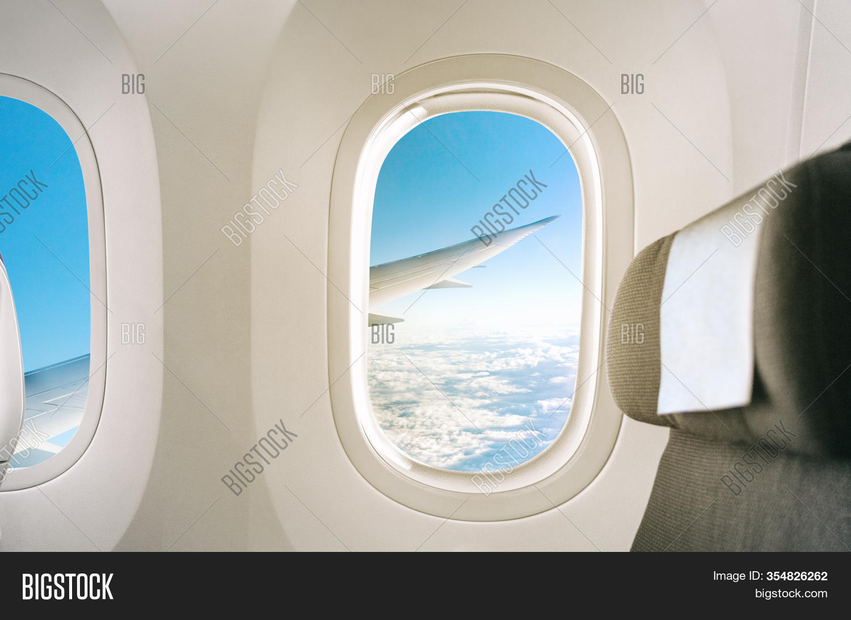 Inside Plane Window Image Photo Free Trial Bigstock