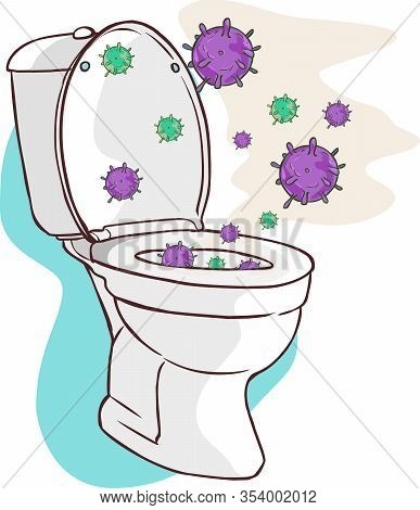 Open Toilet Lid Cause Dispersal Of Germ As A Result Of Flushing