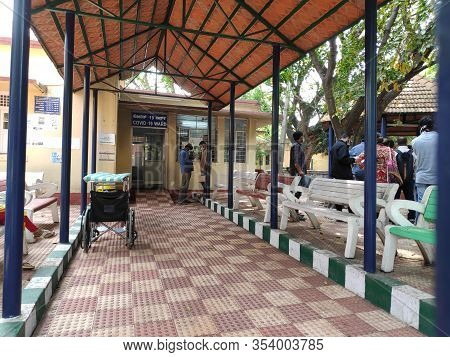 Bengaluru / Bangalore, India - March 4 2020: A Hospital Ward For Testing Covid-19 Or Coronavirus Set