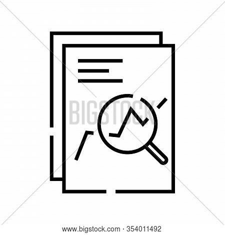 Swap Chart Line Icon, Concept Sign, Outline Vector Illustration, Linear Symbol.